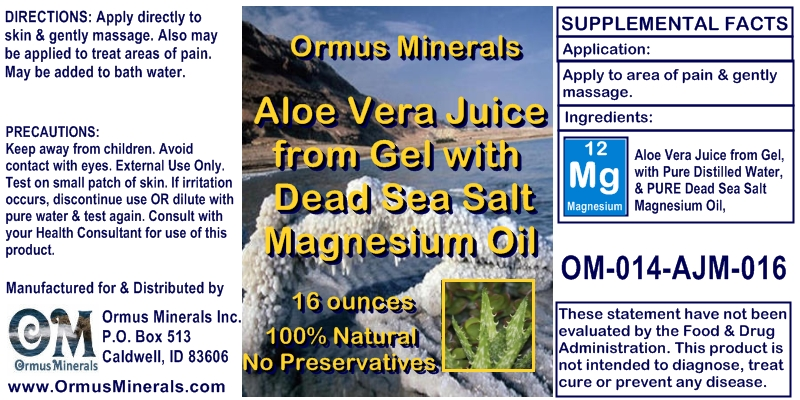 Aloe Vera with Dead Sea Salt Magnesium Oil