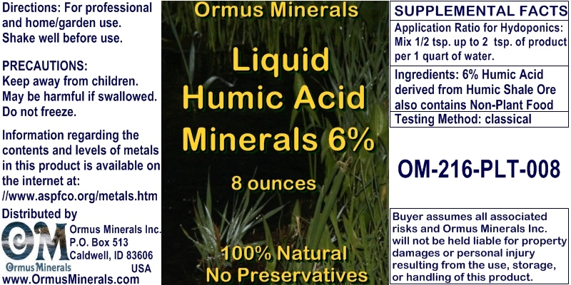 Humic Acid Minerals 6 Percent